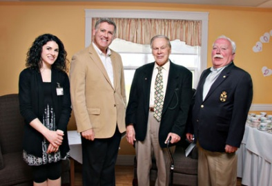 Fundraising Coordinator, Lisa MacNeil with MLA Cecil Clark, Board Member Les Day and MLA Keith Bain.
