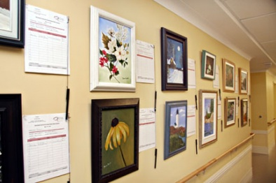 A few of the 28 paintings included in the May 17-21, 2010 silent auction.