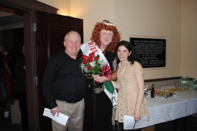 Miss Cape Breton 2013 - Miss Christina MacInnis!  Pictured with Gala MC Scott Boyd and Fundraising Coordinator, Lisa MacNeil